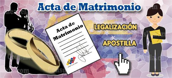 Cómo Legalizar y Apostillar un Acta Matrimonial en Venezuela