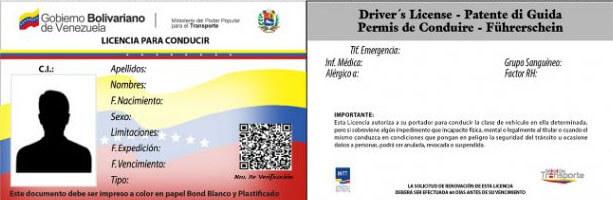 Descargar e Imprimir la Licencia pra conducir en Venezuela
