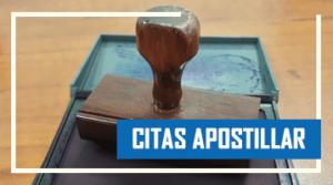 Citas para apostillar