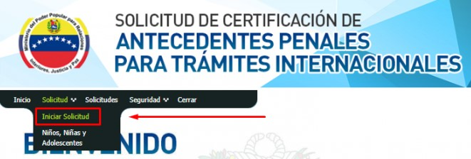 solicitud de certificación de antecedentes penales