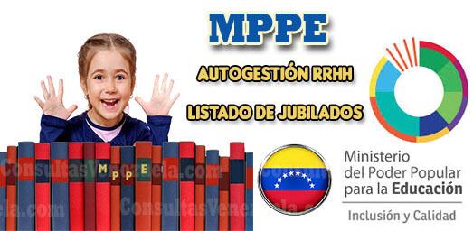 MPPE: Registro, Autogestión RRHH, Consulta Constancia de Trabajo Electrónica, Recibos de Pago y Listado de Jubilados