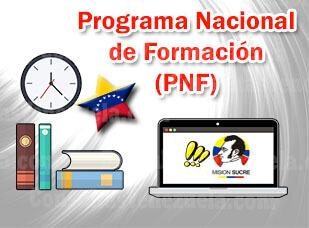 ¿Qué es el Programa Nacional de formación PNF?