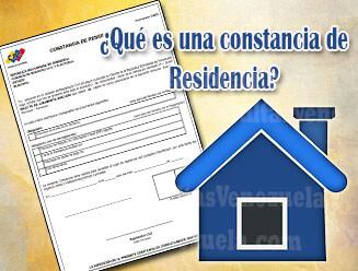 ¿Qué es una Constancia de Residencia del CNE?
