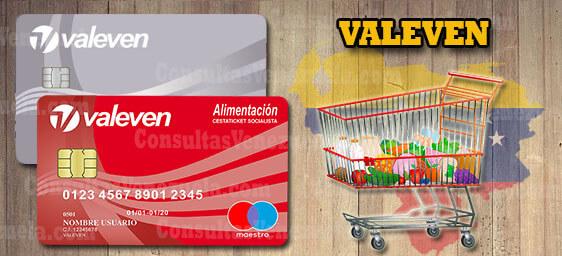 VALEVEN: Bono de alimentación socialista, Tickets, Tarjetas electrónicas y consulta de saldo