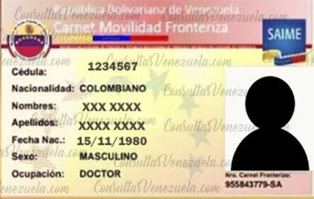 Carnet Fronterizo para colombianos