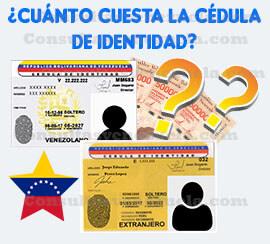 ¿Cuánto cuesta la cédula venezolana?