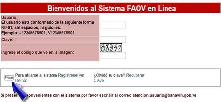 ¿Cómo iniciar sesión en línea en FAOV?