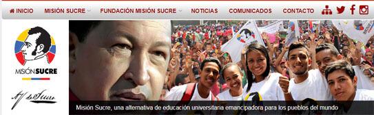 ¿Qué servicios ofrece la página de la Misión Sucre www.misionsucre.gob.ve?