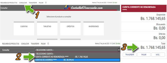¿Cómo consultar el saldo disponible en el Banco Bicentenario en Línea?