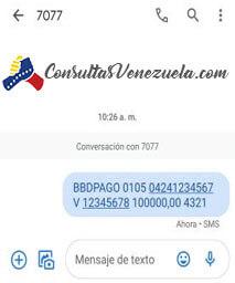 ¿Cómo transferir dinero a través de Mensajes de texto (SMS) desde el Banco Bicentenario?