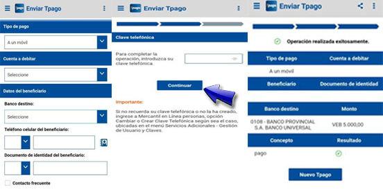 ¿Cómo transferir por TPAGO Mercantil?