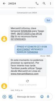 ¿Cómo realizar pago móvil mercantil por mensaje de texto?