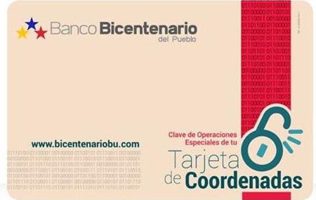 ¿Cómo solicitar la tarjeta de coordenadas del Banco Bicentenario en línea?