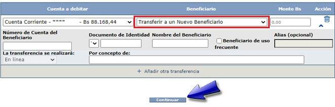 ¿Cómo transferir dinero desde Mercantil sin afiliar la cuenta destino?