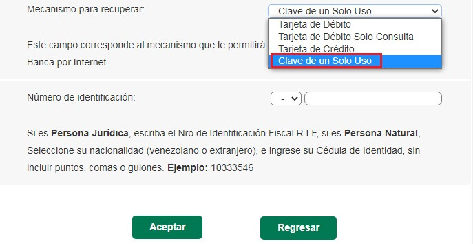 ¿Cómo recuperar la clave o el usuario de Banesco Online sin que me pida el número de la tarjeta?