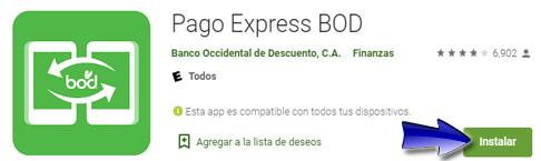 ¿Cómo descargar la aplicación móvil Pago Express BOD?