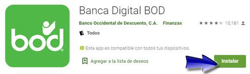¿Cómo descargar la Aplicación de la Banca Digital BOD Venezuela?