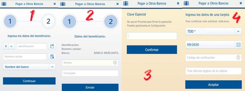 ¿Cómo hacer un Pago Móvil Provincial usando la app dinero rápido?