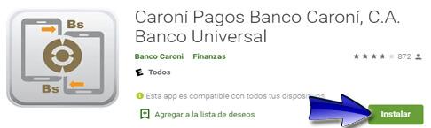 ¿Cómo descargar la aplicación Caroní Pagos Banco Caroní?