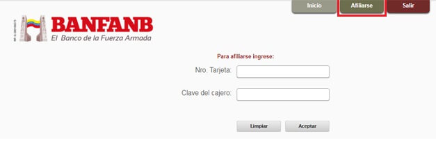 ¿Cómo afiliarse a Banfanb en línea Venezuela?