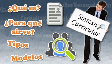 Síntesis Curricular: Características, Datos, Estructura, Formato Tipos y Modelos