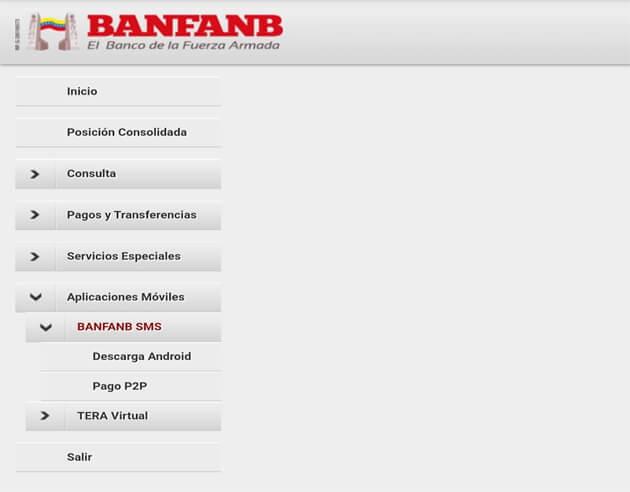 Pago móvil Banfanb en línea