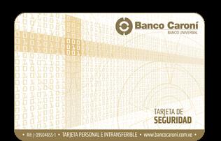 ¿Cómo solicitar la Tarjeta de Seguridad del Banco Caroní?