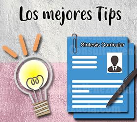 Tips para redactar correctamente una síntesis curricular