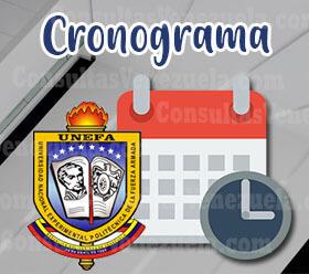 Cronograma Unefa