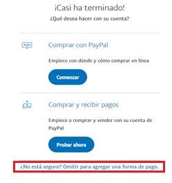 ¿Cómo crear cuenta PayPal en Venezuela e inciar sesión? paso 5