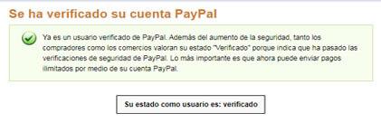 ¿Cómo saber si mi cuenta PayPal está verificada?