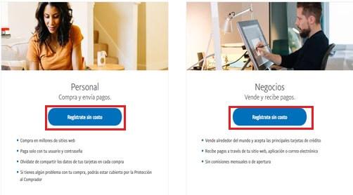 ¿Cómo crear cuenta PayPal en Venezuela e inciar sesión? paso 2
