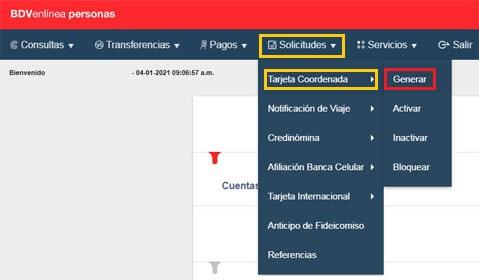 ¿Cómo obtener la tarjeta de coordenadas del Banco de Venezuela?