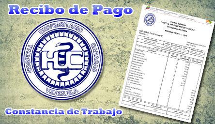 Recibo de pago HUC: Consulta en línea