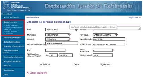 ¿Cómo registrarse para realizar la declaración jurada de patrimonio? Paso a paso 3