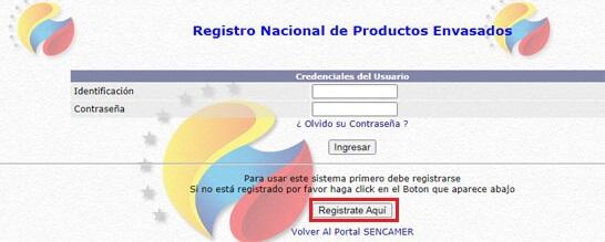¿Cómo Registrarse en el Sistema de Productos Envasados (Inscripción CPE) del SENCAMER?