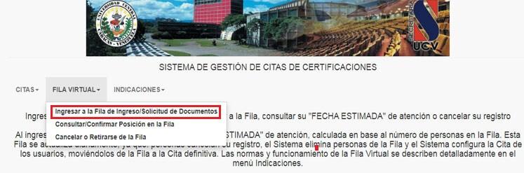 ¿Cómo obtener una cita de Ingreso y Certificaciones UCV?
