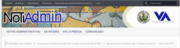 ¿Qué son las Notas Administrativas UCV?