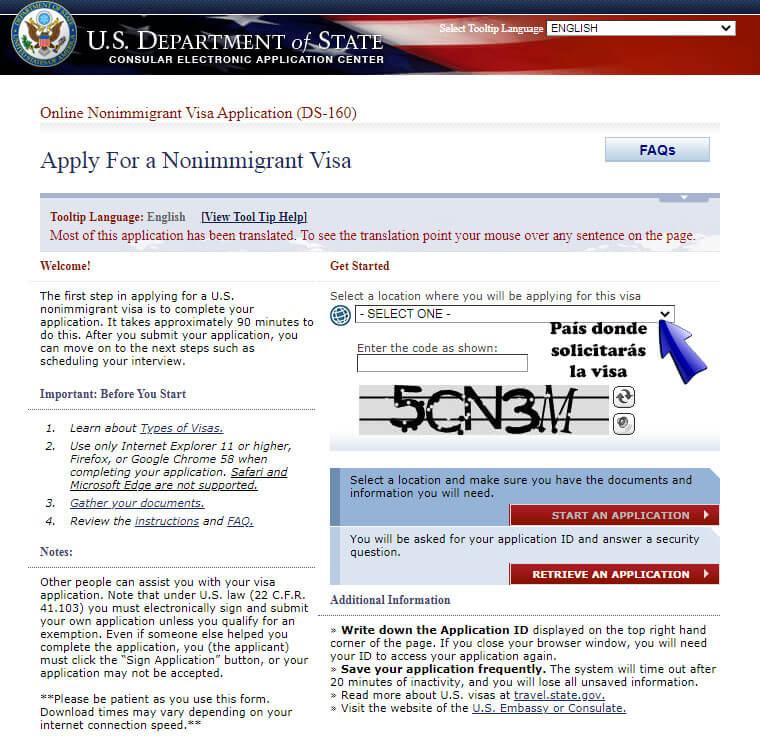 ¿Cómo Solicitar una Visa Americana? paso a paso