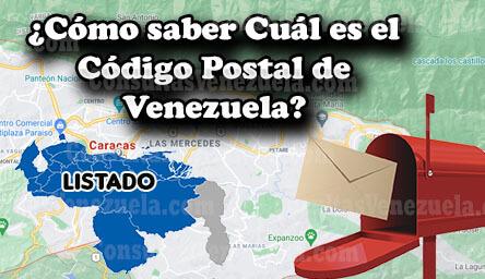 ¿Cómo saber cuál es tu código postal de Venezuela? Listado